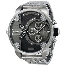 Diesel SBA Dual Time Chronograph Grey Dial Stainless Steel Mens Watch DZ7259