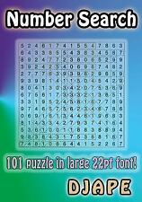 Number Search : 101 Puzzle in Large 22pt Font! by Djape (2013, Paperback,...