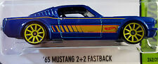 Hot Wheels 2015 HW Workshop '65 Mustang 2+2 Fastback Blue 1965 Ford 1:64