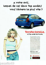 PUBLICITE ADVERTISING 125  1998  TOYOTA COROLLA  TOP MODEL
