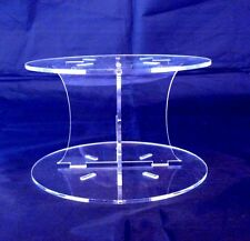 Acrylic Circle Cross Pillars 10cm High for our Wedding & Party Cake Stands