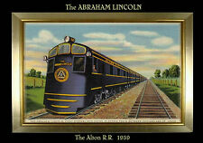 MAGNET TRAIN Post Card Photo Magnet The ABRAHAM LINCOLN Alton Railroad 1939