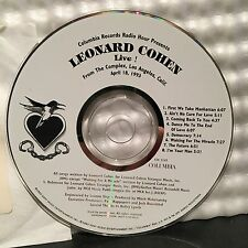LEONARD COHEN LIVE! THE COMPLEX LA~APRIL 18,1993~NM COLUMBIA RADIO HOUR PROMO CD