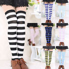 Sexy Women Girl Striped Cotton Thigh High Over the Knee Socks Fashion Stockings