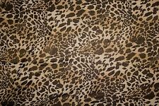 Black Nude Foil Animal ITY Print #136 Stretch Polyester Lycra Spandex Fabric BTY
