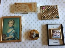Vintage Lot of 5 Purse Compacts - Variety of Different Ones