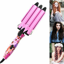 Portable King Size 3 Barrels Big Hair Wave Waver Ceramic Curler Curl Curling