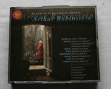 RUBINSTEIN / DVORAK-BRAHMS-SCHUBERT-FAURE-MOZART-... FRENCH 4CD box RCA (2001)