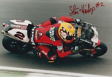Steve Hislop Hand Signed Monstermob Ducati 12x8 Photo.