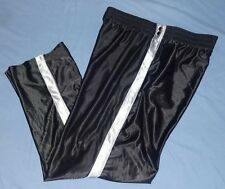 FINISH LINE Shiny Black Breakaway Tearaway Sport Athletic Basketball Pants XL