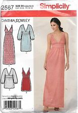 UNCUT Simplicity 2587 ladies 4-12 sewing pattern cynthia rowley dress tunic FF