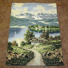 Alpine Chalet ~ Swiss Alps Tapestry Wall Hanging