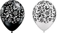 BLACK WHITE COMBO damask party balloons birthday latex
