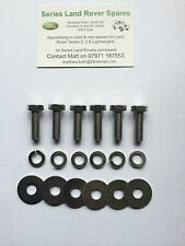 Land Rover Series 2 Stainless Acciaio Pompa Freno a paratia Kit Di Bulloni