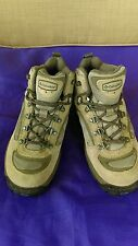 COLUMBIA WOMENS 'Hilltop Ridge' sz 7M tan leather HIKING outdoor BOOTS EUC