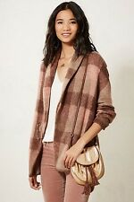 NWT Anthropologie Woodland Plaid Sweater Coat by Moth Medium