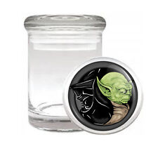 YIN & YANG D11 ODORLESS AIR TIGHT MEDICAL GLASS JAR CONTAINER TAOISM