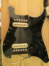 Black HH Zebra prewired Pickguard with Series, OoP, and Coil Split
