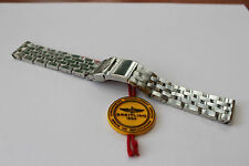 100% Genuine New Breitling S/Steel Pilot Bracelet with Raised wings Logo 20-18mm