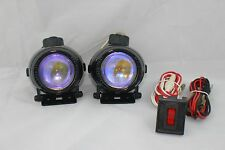 2 4X4 OFF ROAD UNIVERSAL PROJECTOR LAMPS FOG LIGHTS SET KIT WIRING HARNESS