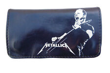 Tobacco Case Pouch Synthetic Leather Wallet Bag Rolling Metallica Rock Metal
