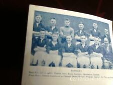 barnsley team group 1934 b+w picture 11cm by 9cm with team line-up original