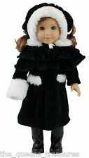 18 Inch DOLL CLOTHES Fits AMERICAN GIRL 1914 Style Winter Coat, Hat, Cape, Muff