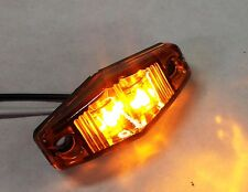 """1 PC SUPER BRIGHT AMBER LED CLEARANCE MARKER LIGHT,1""""x2.5"""", FOR TRUCK TRAILER.."""