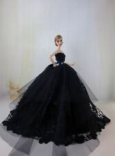 Black Fashion Party Princess Dress Wedding Clothes/Gown For Barbie Doll F33