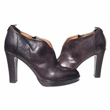 NEW!  ALBERTO FERMANI  SZ 40.5 (10) Coffee All Leather Ankle Booties Boots Pumps