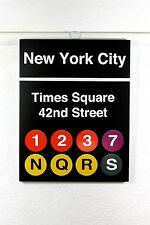 new york subway sign Times square 42 street MTA product NY underground
