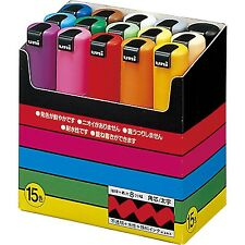Uni-POSCA PC8K15C Paint Marker Pen Bold Point Set of 15 by Mitsubishi Pencil Co.
