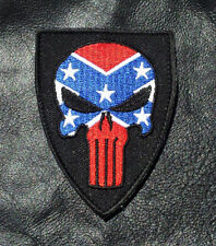 PUNISHER SKULL USA FLAG TACTICAL COMBAT 3.0 INCH SEAL VELCRO PATCH