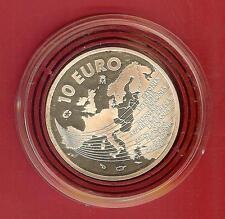 PIECE10 EUROS ESPAGNE ARGENT 2004 ELARGISSEMENT DE L'EUROPE 27 Grs 925/1000