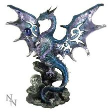 NEMESIS NOW AL50262 BLUE DRAGON PROTECTOR FIGURINE FANTASY STATUE GOTHIC