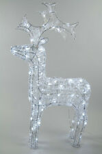 Kaemingk Christmas LED Indoor Outdoor Acrylic Reindeer 90cm - COOL WHITE