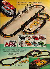 1972 ADVERT 2 PG Toy Aurora AFX Wodel Car Racing Golden Gate Road Grand National