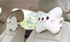 2pcs Cute Sea Lions Car Headrest Pillow Lumbar Pillow Neck Pillow Headrest