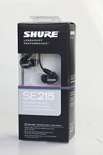 SHURE SE215 Black Sound Isolating In-Ear Monitors Earbuds Headphones