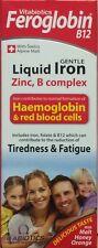 2x Vitabiotics Feroglobin B12 hierro líquido 200ml