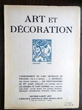 Art et Decoration 1926 Deco Pologne G. Dufrenoy photo Albin Guillot Tony Ganier