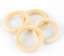 20 Natural Wood Circle Ring Pendant Connectors Beads DIY Jewelry Findings 68mm