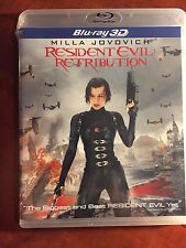 Resident Evil: Retribution 3D (Blu-ray Disc, 2012, 2-Disc Set, UltraViolet)- NEW