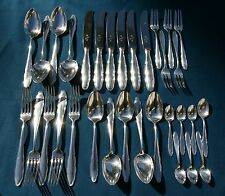 Antique WMF 1500 CHIPPENDALE Silver plate PATENT 90 FLATWARE 32 Pieces GERMANY