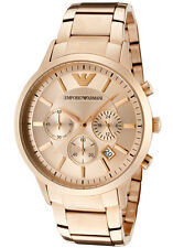 NEW Emporio Armani AR2452 Classic Rose Gold Chronograph Mens Watch