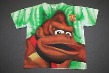 L * vtg 90s 1994 all over print DONKEY KONG COUNTRY Super Nintendo t shirt