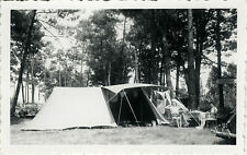 PHOTO ANCIENNE - VINTAGE SNAPSHOT - CAMPING TENTE VACANCES FOURAS 1955 -HOLIDAYS
