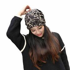 Women Hip-Hop English Letter Multi Purpose Baggy Hat Unisex Scarf Beanie Cap N
