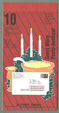 CANADA 1991 GREET MORE Booklet - CHRISTMAS Noel - 10 x 35c. - Complete - MNH