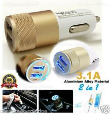 3.1A Dual USB Car Charger  Whit Alloy 2 Port Universal Charging 4 Iphone 5S 5C